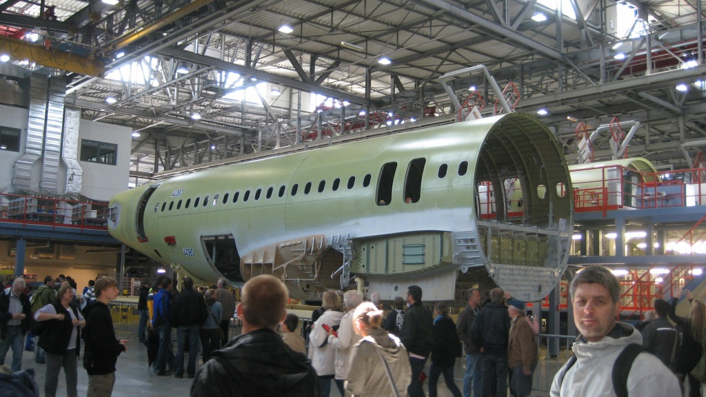 Airbus A320 rear fuselage construction