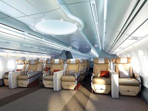Airbus A350 Xwb Interior Modern Airliners