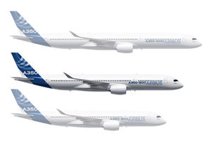 Airbus A350 group of aircraft featuring A350-900