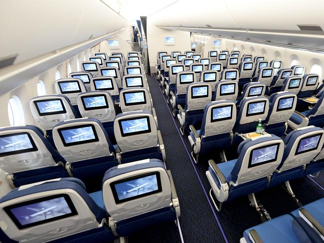 Airbus A350 interior economy class forward facing high
