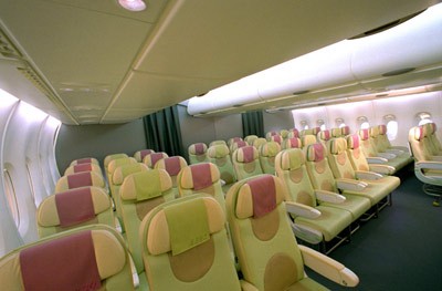 Airbus A380 Economy Class Section
