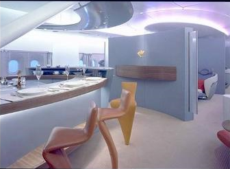 Airbus A380 First Class bar area