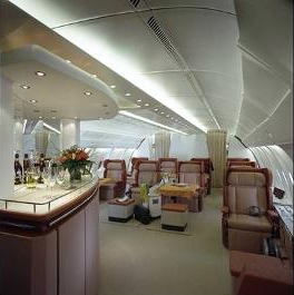 Airbus A380 upstairs Business Class Seating