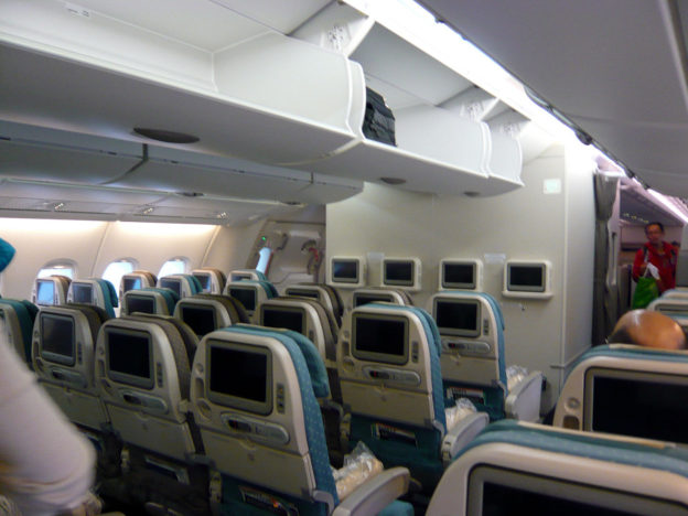 Economy class interior of airbus A380