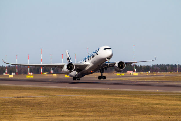 Finnair Airbus A350 lifts off