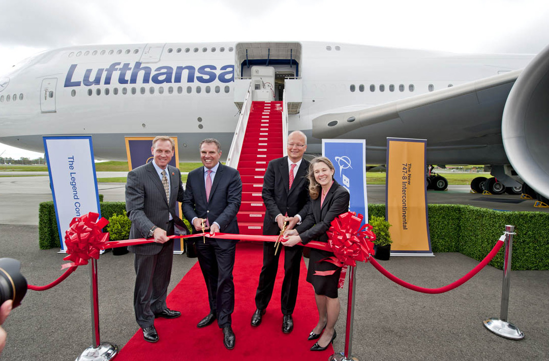 Lufthansa take delivery of their Boeing-747-8I Intercontinental