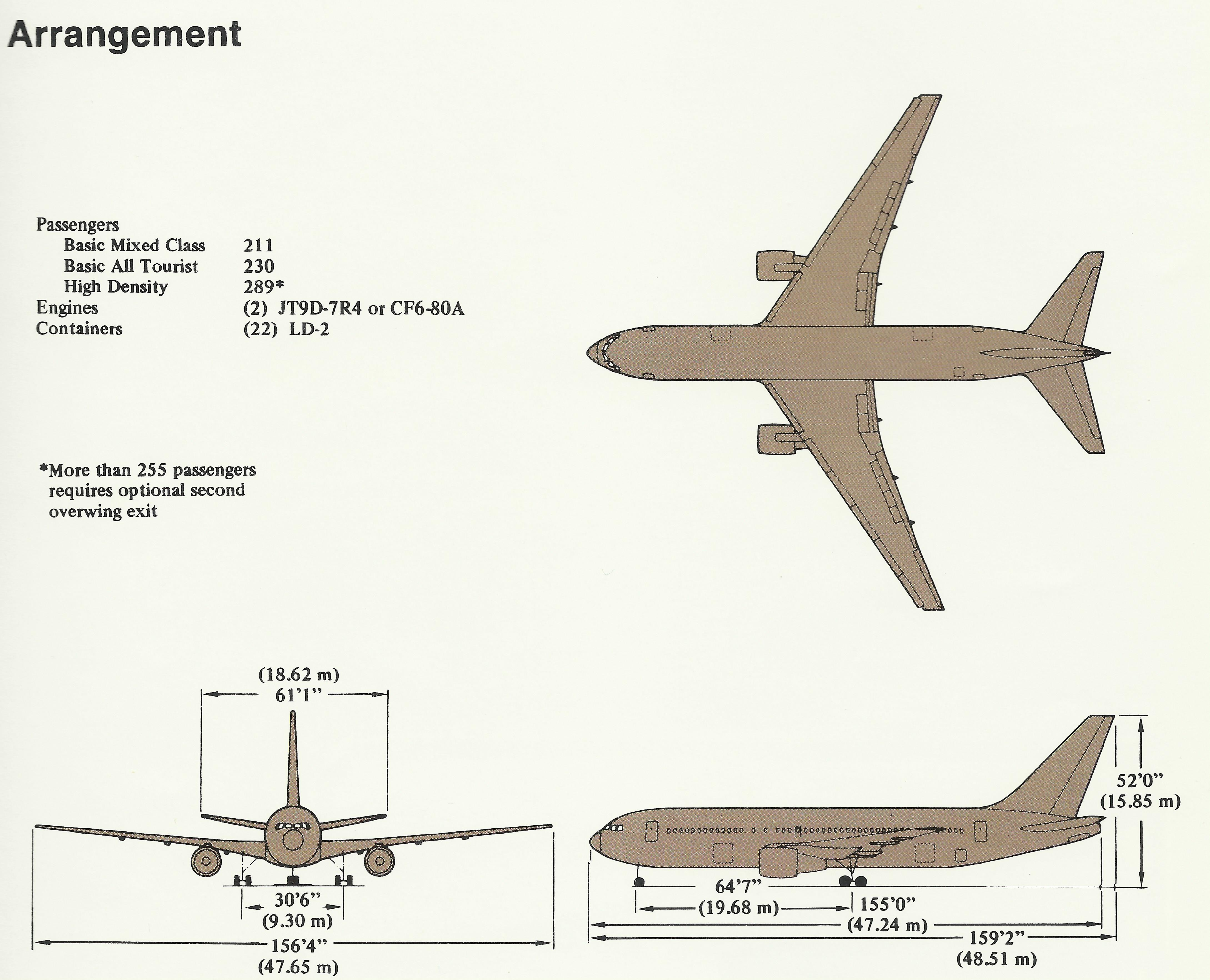 Cabin Blueprints Boeing 767 Modern Airliners