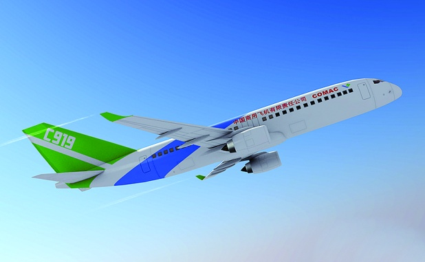 The C919 was scheduled to fly in 2014 and enter service in 2016.