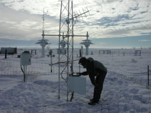 snowy weather station