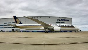 Singapore 787-10 launch customer