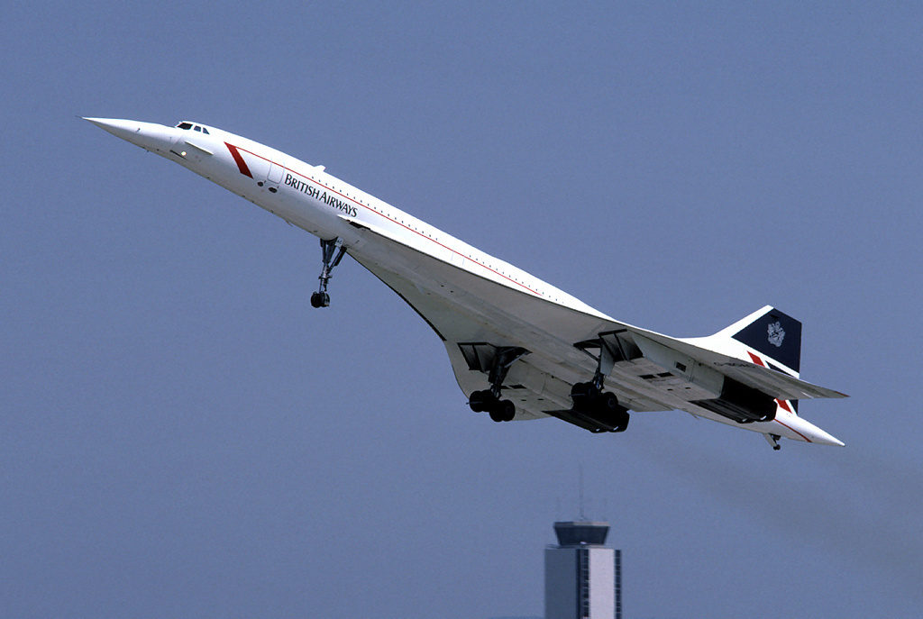 British Airways Concorde G-BOAC on approach.
