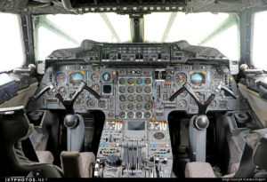 The Concorde flight deck.