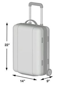 Check with the airline website to ensure you know the cabin bag acceptable dimensions.