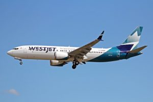 C-FNWD Boeing 737 MAX 8 WestJet Airlines makes an approach at Vancouver 04JUL18.
