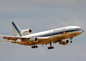 An Eastern Airlines Lockheed L1011 Tristar. Eastern Air Line was the launch customer for the Lockheed L1011-1.
