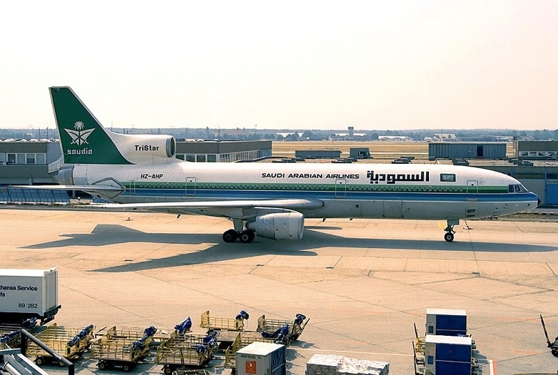 Saudia, Saudi Arabian Airlines was the launch customer for the Lockheed Tristar L1011-200.