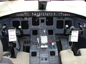 The Flight Deck of the CRJ-900.