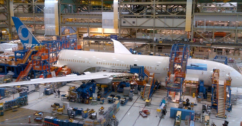 First 787-9 in Factory at Final Body Join K65906-04