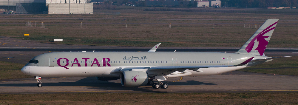 Airbus A350 XWB Qatar Airways taxi