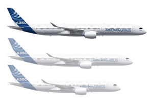 Airbus A350 group of aircraft featuring A350-1000