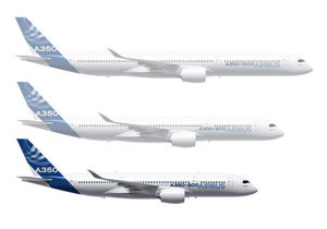 Airbus A350 group of aircraft featuring A350-800