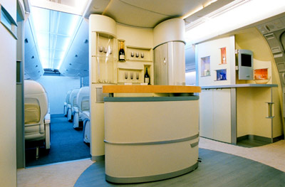 Airbus A380 Business Class Bar Area