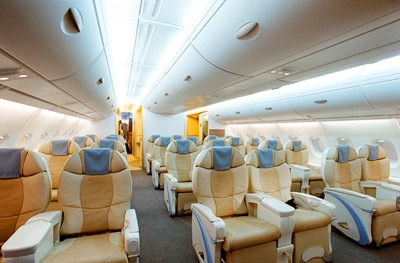 Airbus A380 Business Class seating