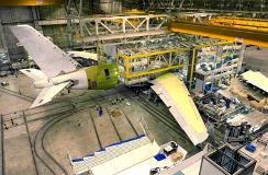 Airbus A380 starts to take shape as the fuselage sections have been joined