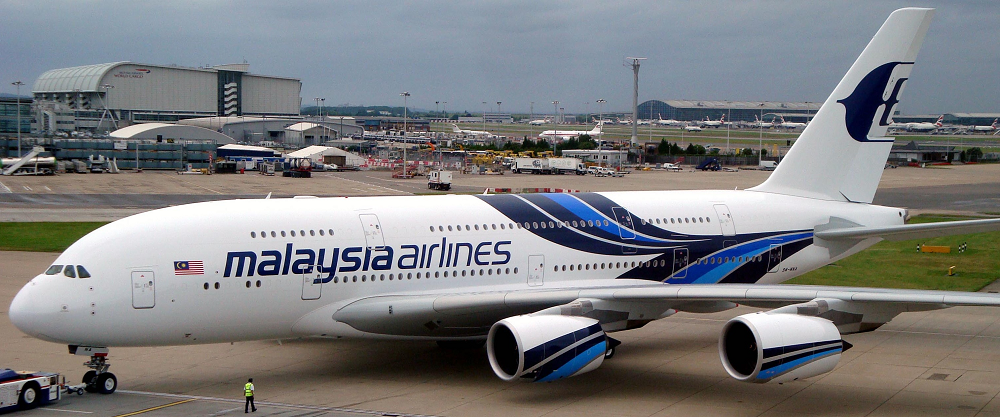 Malaysia Airlines Airbus A380 at Heathrow