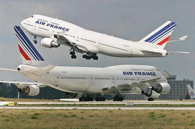 Boeing 747 400s of Air France