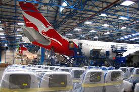 A330 QANTAS ready for interior fit out