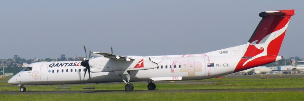 DHC dash 8 402 registration vh qoi delivered to sunstate airlines qantaslink 30 jan