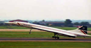 British Airways flagship Concorde. Its registration G-BOAC was the original name of the airline, British Overseas Airways Corporation.