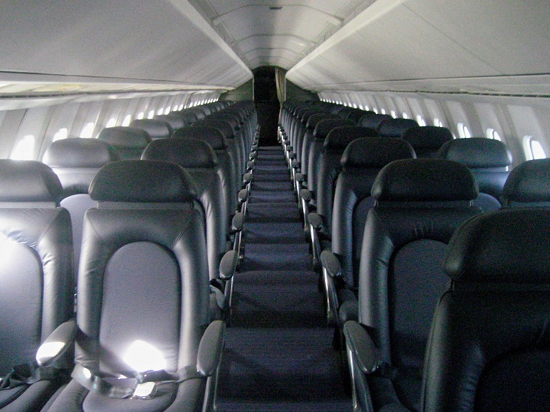 Concorde Interior of G-BOAG. The cabin of Concorde was relatively small due to the necessary sleekness of the fuselage. The windows were also very small so as not to compromise the hull strength at then high pressure differential at cruise altitude. Also smaller windows would reduce mass decompression in the case of one failing.
