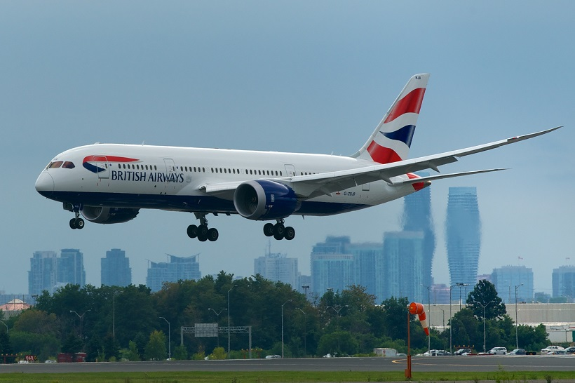 :British Airways Boeing 787-8 G-ZBJB