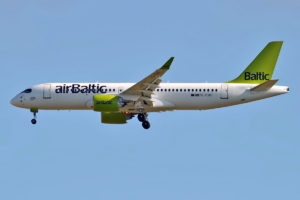Air Baltic was the launch customer for the Bombardier CS300.