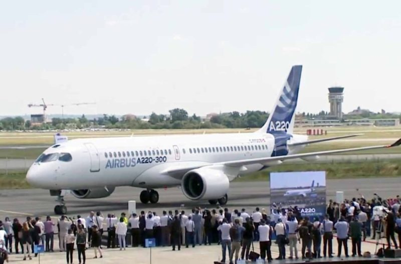 Airbus A220-300 first landing. So where did Airbus suddenly produce a new aircraft from and why the change to the numbering system?