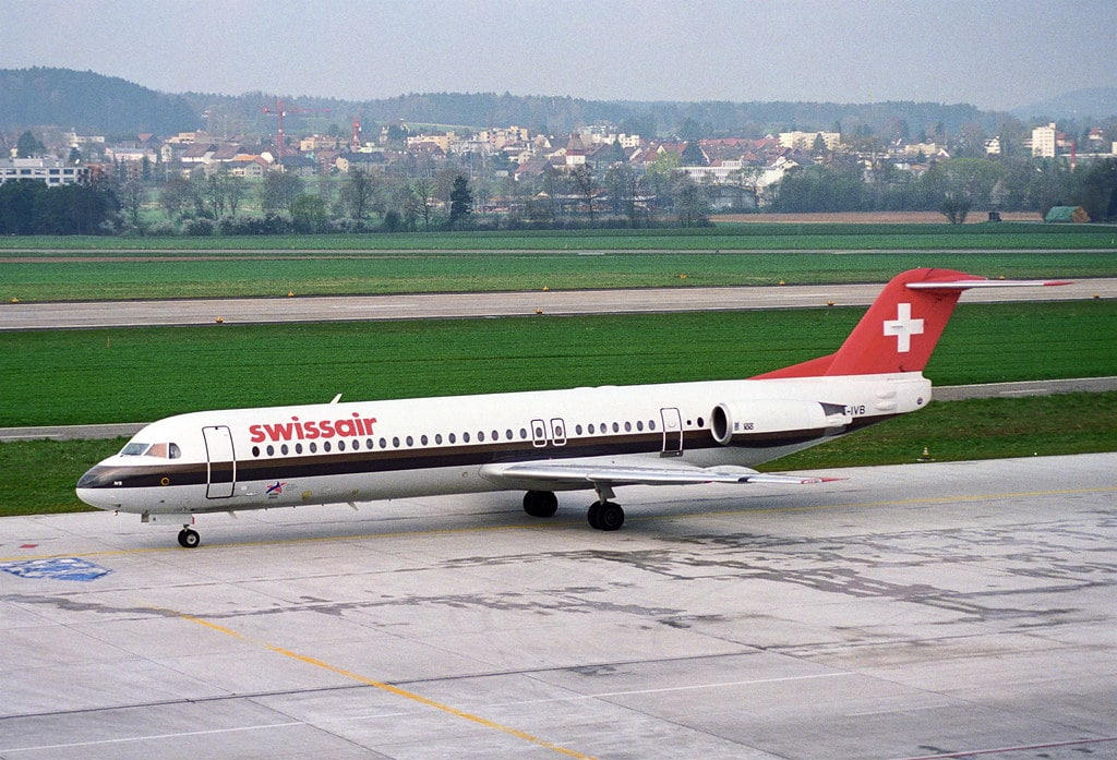 Swissair was the first to receive their Fokker 100 with the Tay 620-15 engines.