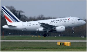 Air France Airbus A318-111 (F-GUGC) at Manchester Airport