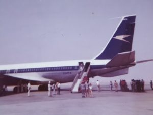 Boeing 707 Dubai June 1973