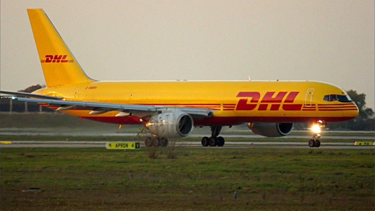 Boeing 757-200PF Freighter in DHL livery