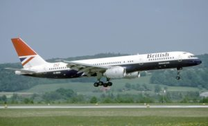British Airways Boeing 757-200. British Airways was the second airline to fly the 757 and the first outside the U.S.A.