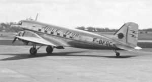 This Douglas DC-3 is known as a tail-dragger as its third wheel is located under the tail. When taking off, the tail raises first off the ground and then is gently lowered to enable the main wheels to be lifted off the ground.