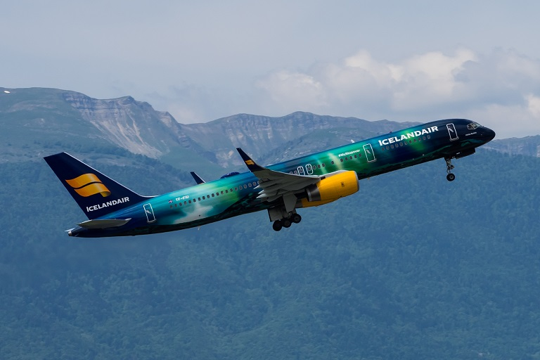 Icelandair Boeing 757-256 named Hekla Aurora registration TF-FIU first flew 08 April 1994.