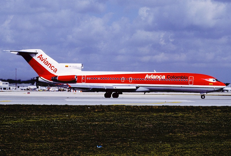 Boeing 727-2A1 of Avianca, Colombia.