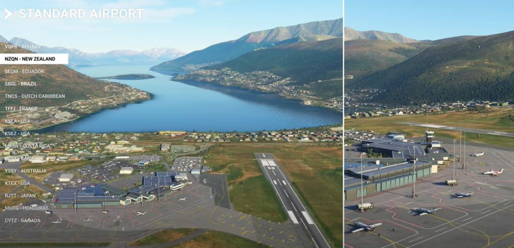 Flight Simulator 2020 at beautiful Queenstown Airport New Zealand